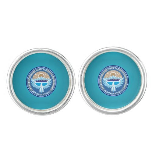 Kyrgyzstani coat of arms cufflinks