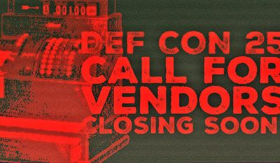 DEF CON 25 Vendor Applications are Closing Soon! From: http://ift.tt/1qW7Kj3 - https://www.defcon.org