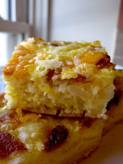 Breakfast casserole with hash browns AND crescent rolls. :)