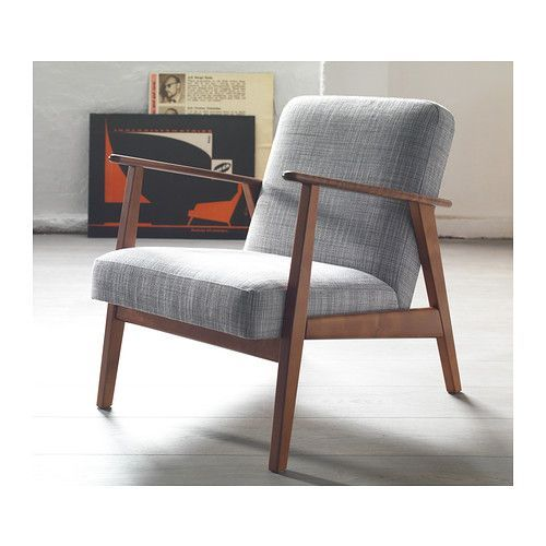 Eken set armchair isunda grey armchairs ikea design and for Mid century modern armchairs