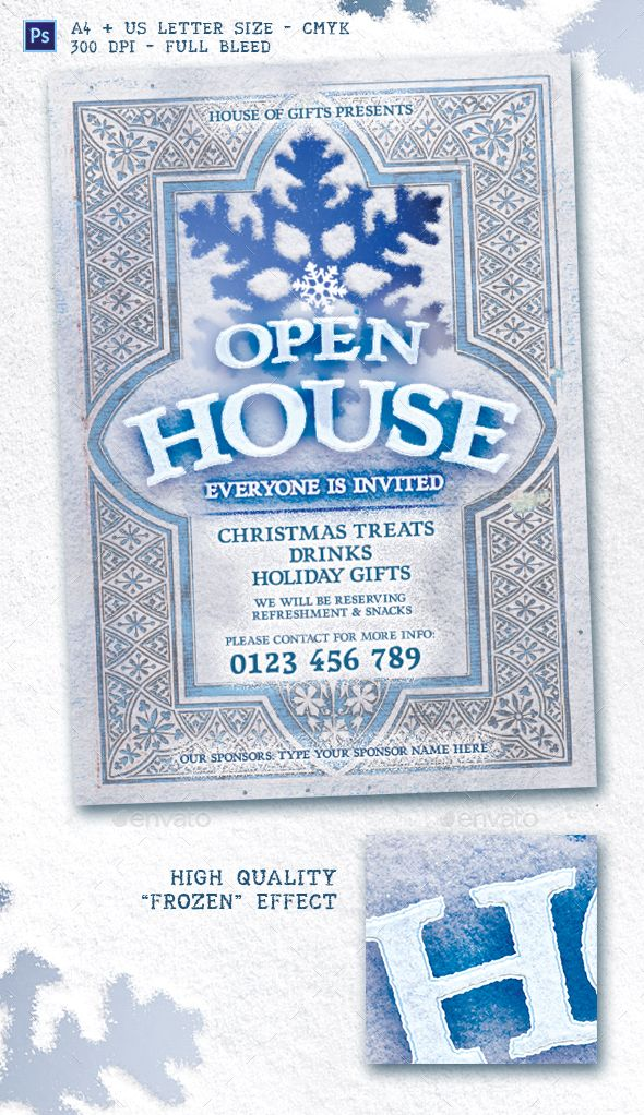 Holiday Open House Flyer Template Events Flyers Flyer