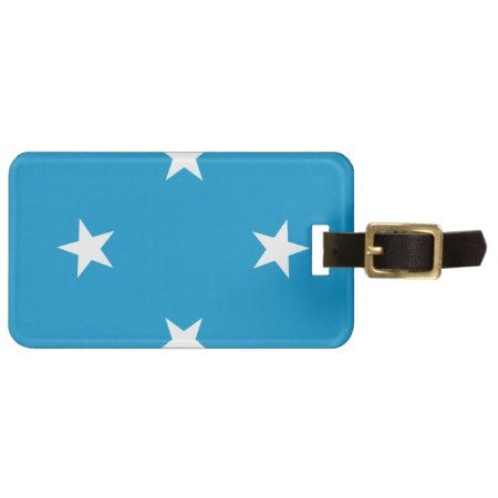 Low Cost! Federated States of Micronesia Flag Luggage Tag - click/tap to personalize and buy