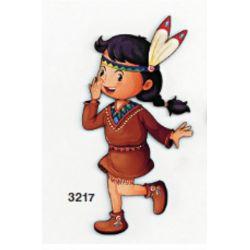 Ξύλινο Stand/Μπρελόκ/Διακοσμητικό/Μανταλάκι/Μαγνητάκι Ινδιάνα (5cm,8cm,13cm,18cm,25cm,50cm,1m)