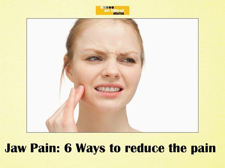 Jaw pain 6 ways to reduce the pain http://allsmilesdentalpractice.com.au/