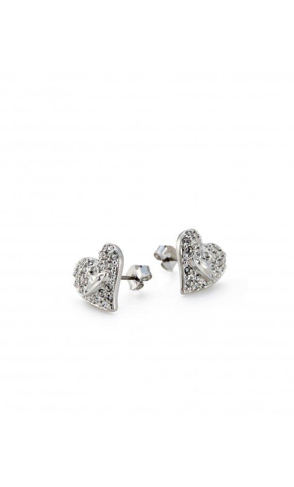 Vivienne Westwood Tiny Diamante Heart Studs #Earrings #dailyglam