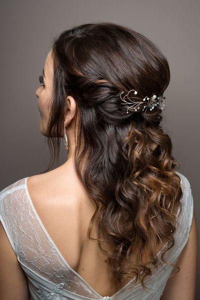 """Haarkammen - """"Eteria"""" - bruids haar kam takje parel - Een uniek product van A-dream-twig op DaWanda"""