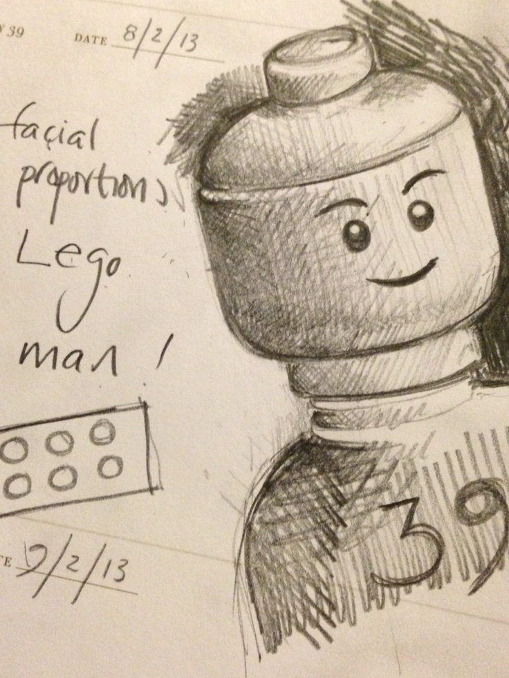 Day 39. Facial proportions of a Lego man