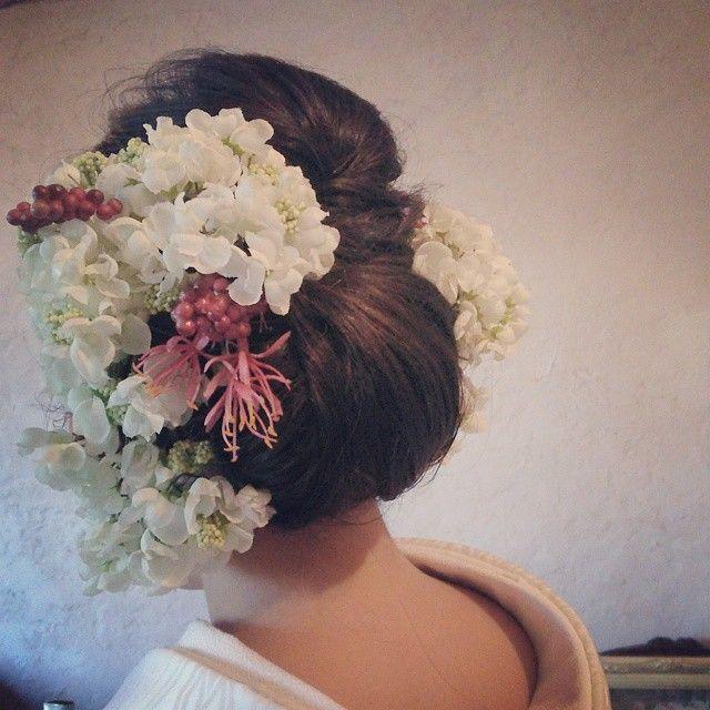 back hair #ウェディング#前撮りヘアアレンジ #SERLIA