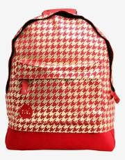 Mi-Pac Houndstooth Backpack - Red/Gold