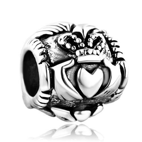 Amazon.com: Pugster Irish Claddagh Friendship and Love Bead- Fit Pandora Charm & Bracelet: Pugster: Arts, Crafts & Sewing