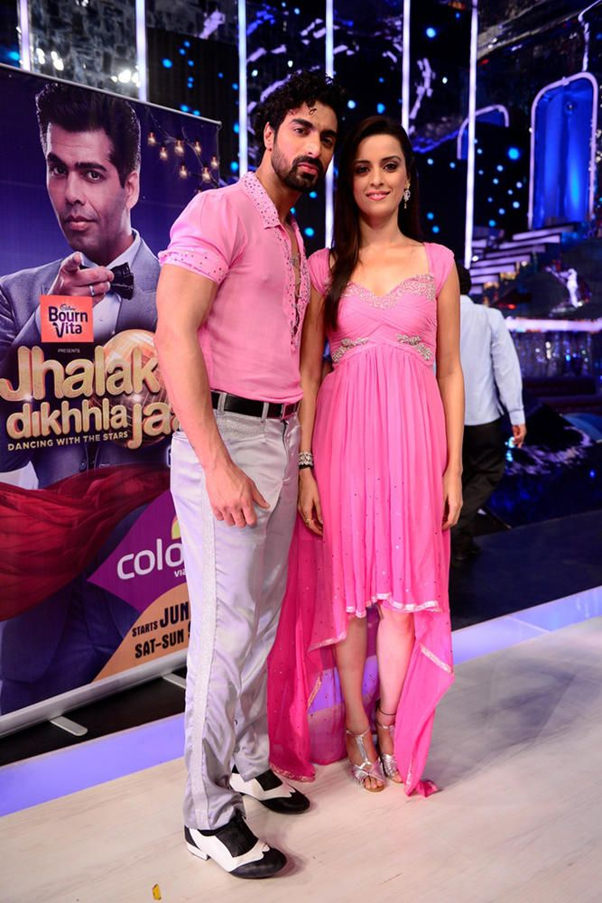 TV actress Ekta Kaul with choreographer Tushar #Bollywood #Fashion