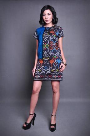 20212 Sangana black dress-  Batik - Tenun Indonesia