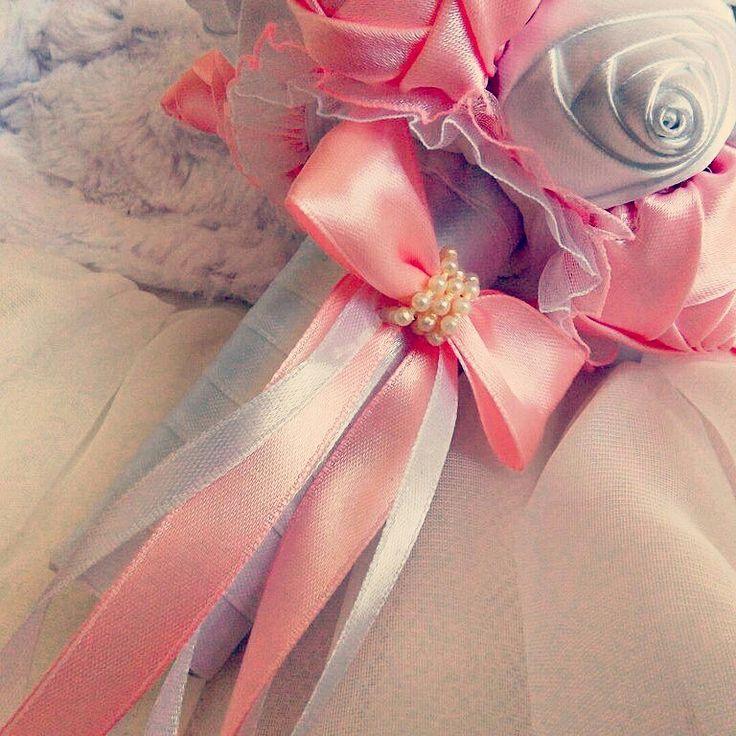 Букет-дублер атласные цветы ручная работа handmade букет невесты свадебный
