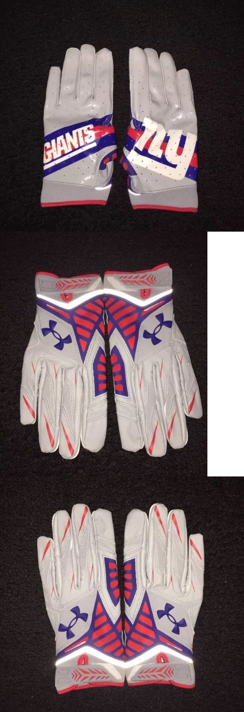Gloves 159114: Ua Nfl Nitro Warp New York Giants Football Gloves Sz L Under Armour New 3M Wr -> BUY IT NOW ONLY: $35 on eBay!