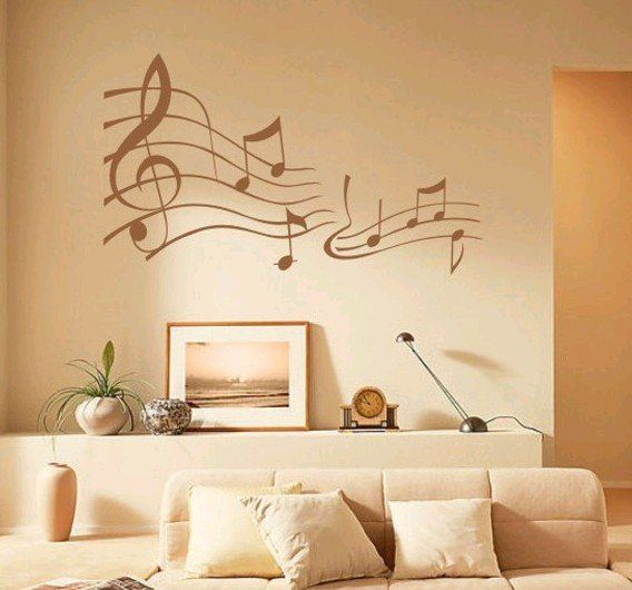 5 Beautiful Accent Wall Ideas To Spruce Up Your Home: 17 Best Ideas About Music Notes Decorations On Pinterest