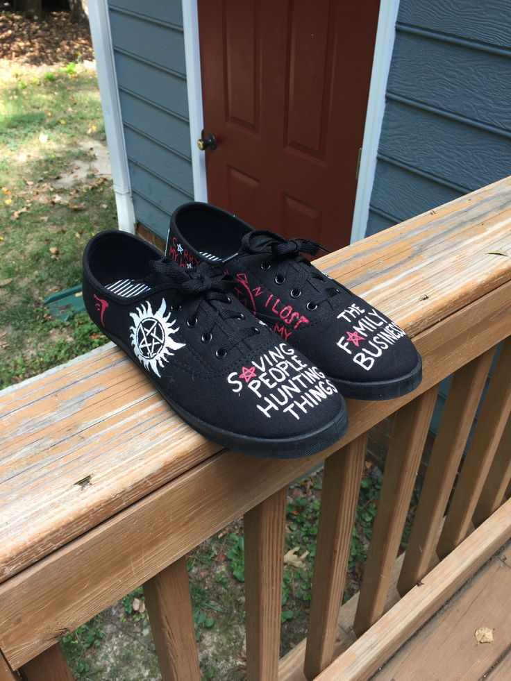 I painted these Supernatural shoes and I love them!!!