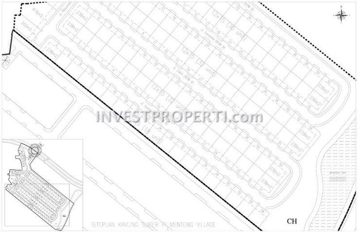 Site plan cluster Menteng Village Paramount Land