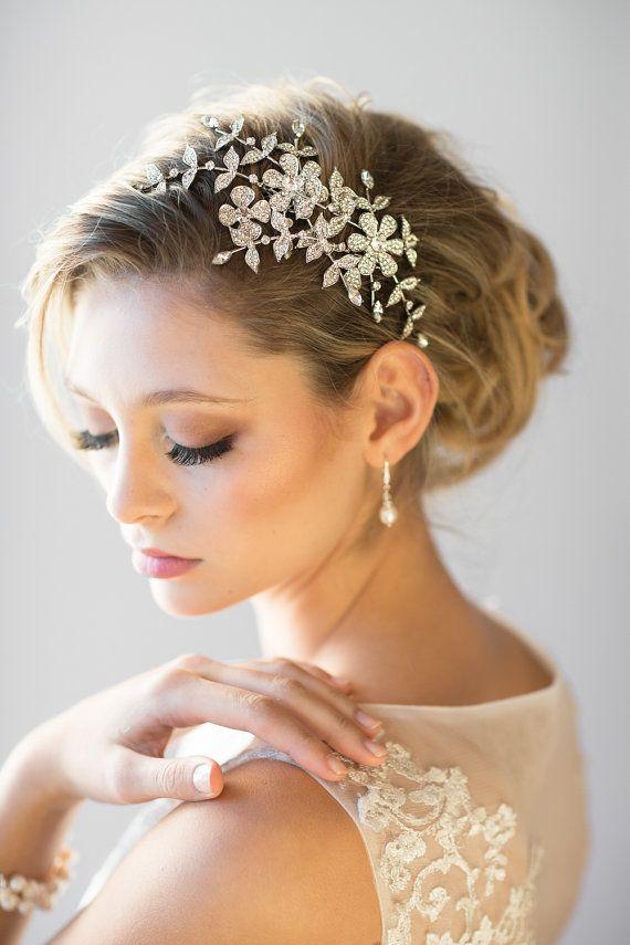 Acessório nupcial de cristal do cabelo do casamento do pente por PowderBlueBijoux   – Hochzeit
