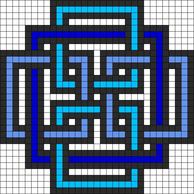 Geometric Square perler bead pattern