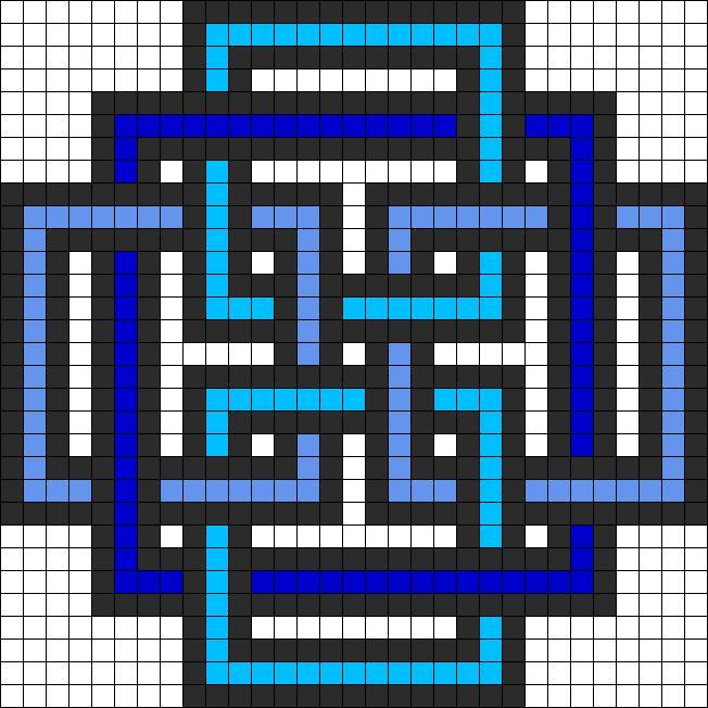 Square Pattern Perler Bead Pattern / Bead Sprite