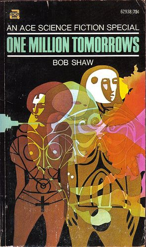 Diane and Leon Dillon's cover for the 1971 edition of One Million Tomorrows (1971), Bob Shaw