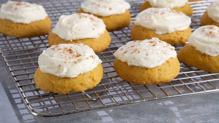 Galletas de calabaza y especias (Pumpkin spice cake cookies) - Anna Olson - Receta - Canal Cocina