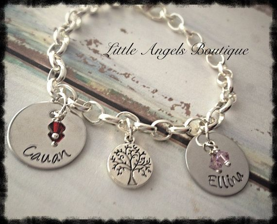 Family tree of Life hand Stamped by littleangelsboutique on Etsy