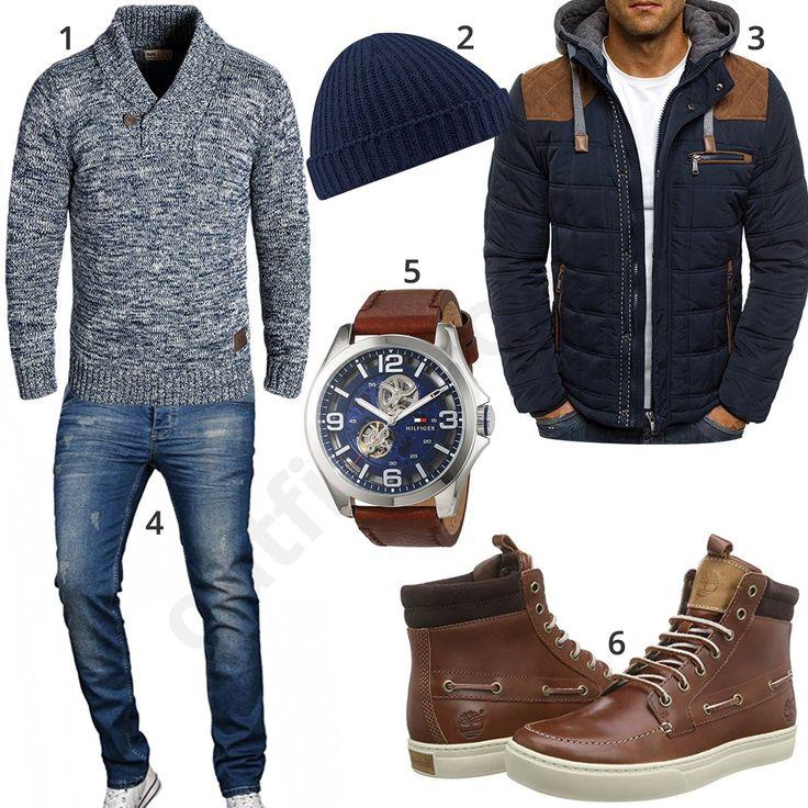 Herren-Outfit mit Übergangsjacke und Boots (m0663)