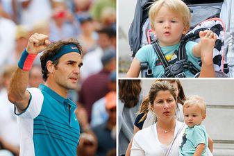 Roger Federer Lenny Leo an US Open 2015