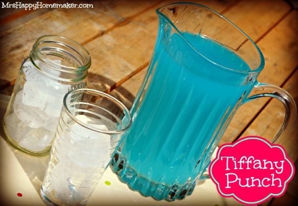 Tiffany Punch - just 2 ingredients & tastes like a jolly rancher! -- Made today, very good but sweet, my kids will like it, I let mine sit in a bunch of ice to dilute it some. MLA