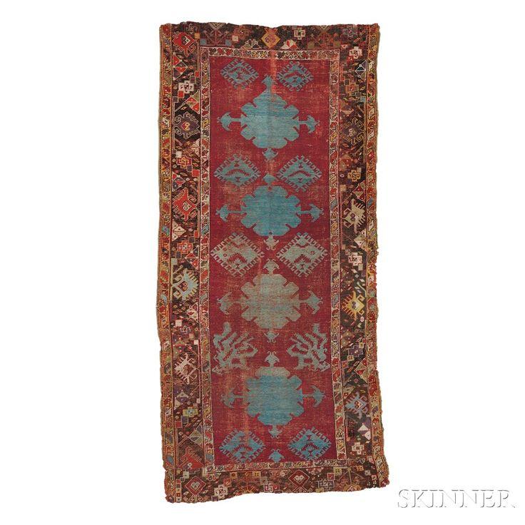 Kirshehir Rug, West Anatolia, c. 1850,  7 ft. 7 in. x 3 ft. 7 in.    Skinner Auctioneers Sale 2752B