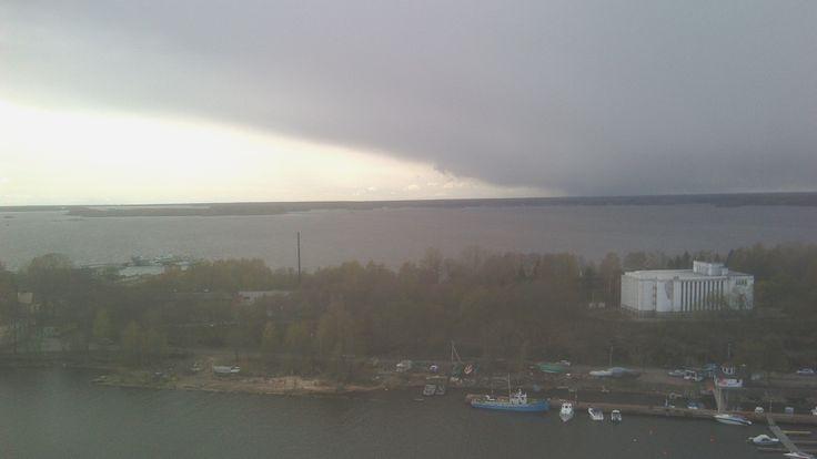 Выборг. Финский залив с башни св.Олафа. С погодой не могло не повезти ;)