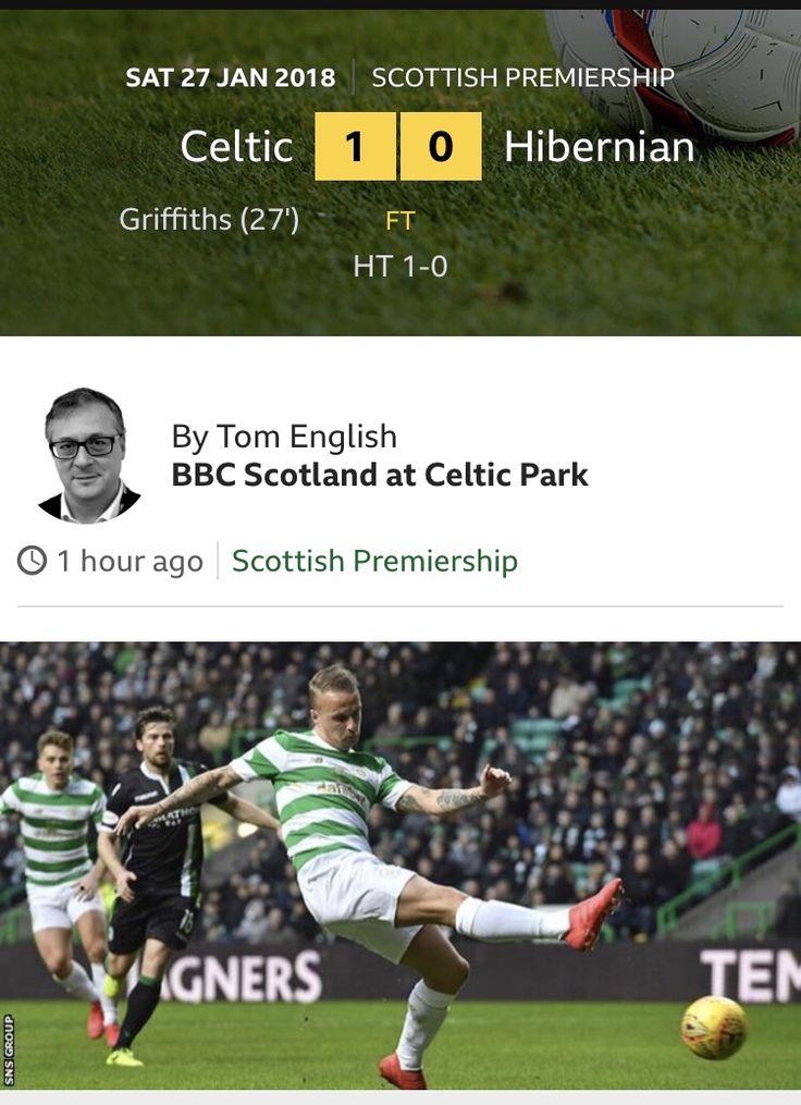Scottish Premiership Celtic Park, Glasgow Saturday, January 27, 2018 CELTIC…1 (Griffiths 27) HIBERNIAN…0