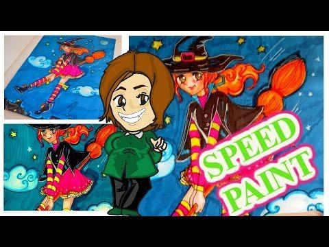 Casinolandia: SPEEDPAINT witch, freehand design