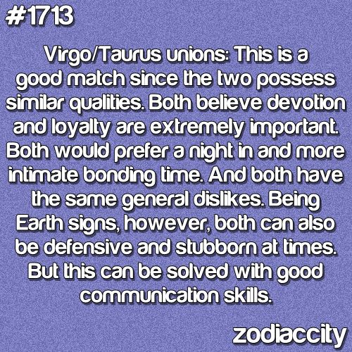 love match for taurus and virgo relationship