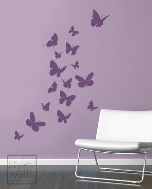Butterflies Wall Decal Butterflies Wall Sticker For