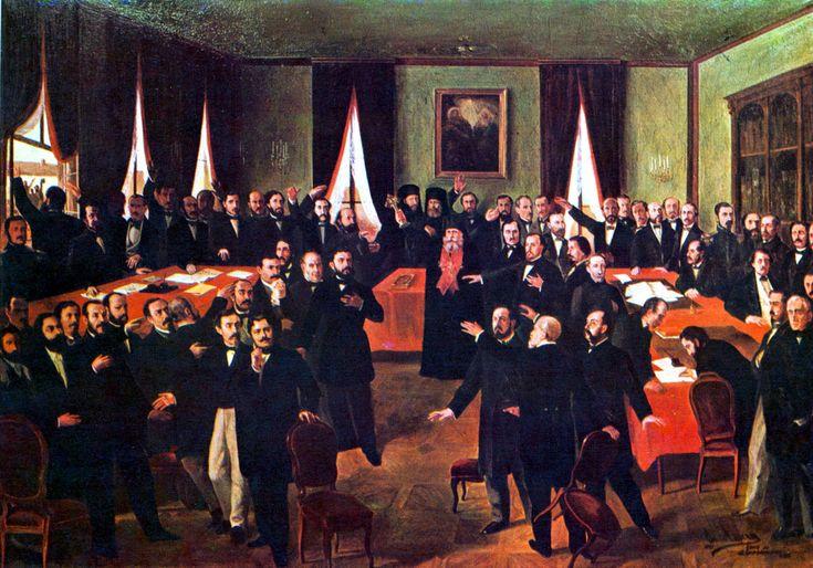 Description Theodor Aman - Proclamarea Unirii.jpg