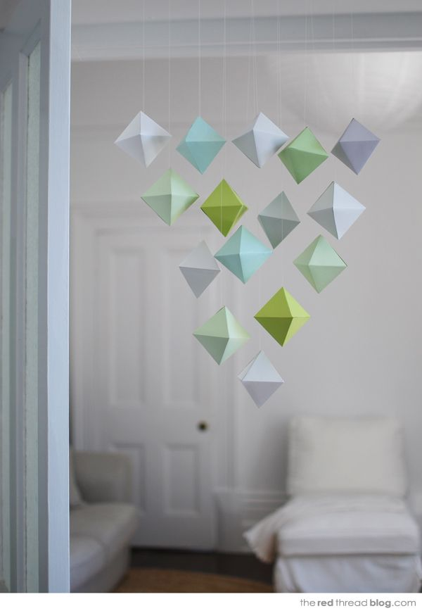 Tutorial :: Paper Geometric Shape Mobile