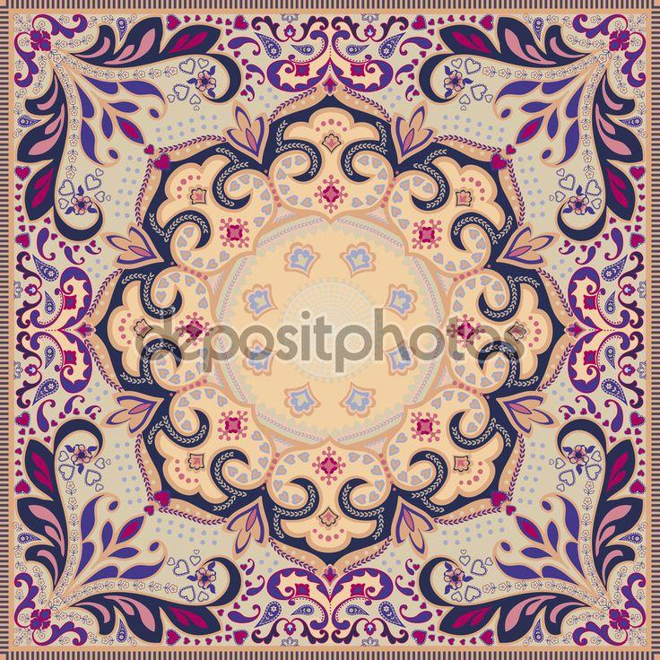55 best Scarf design images on Pinterest   Bandanas, Prayer rug ...
