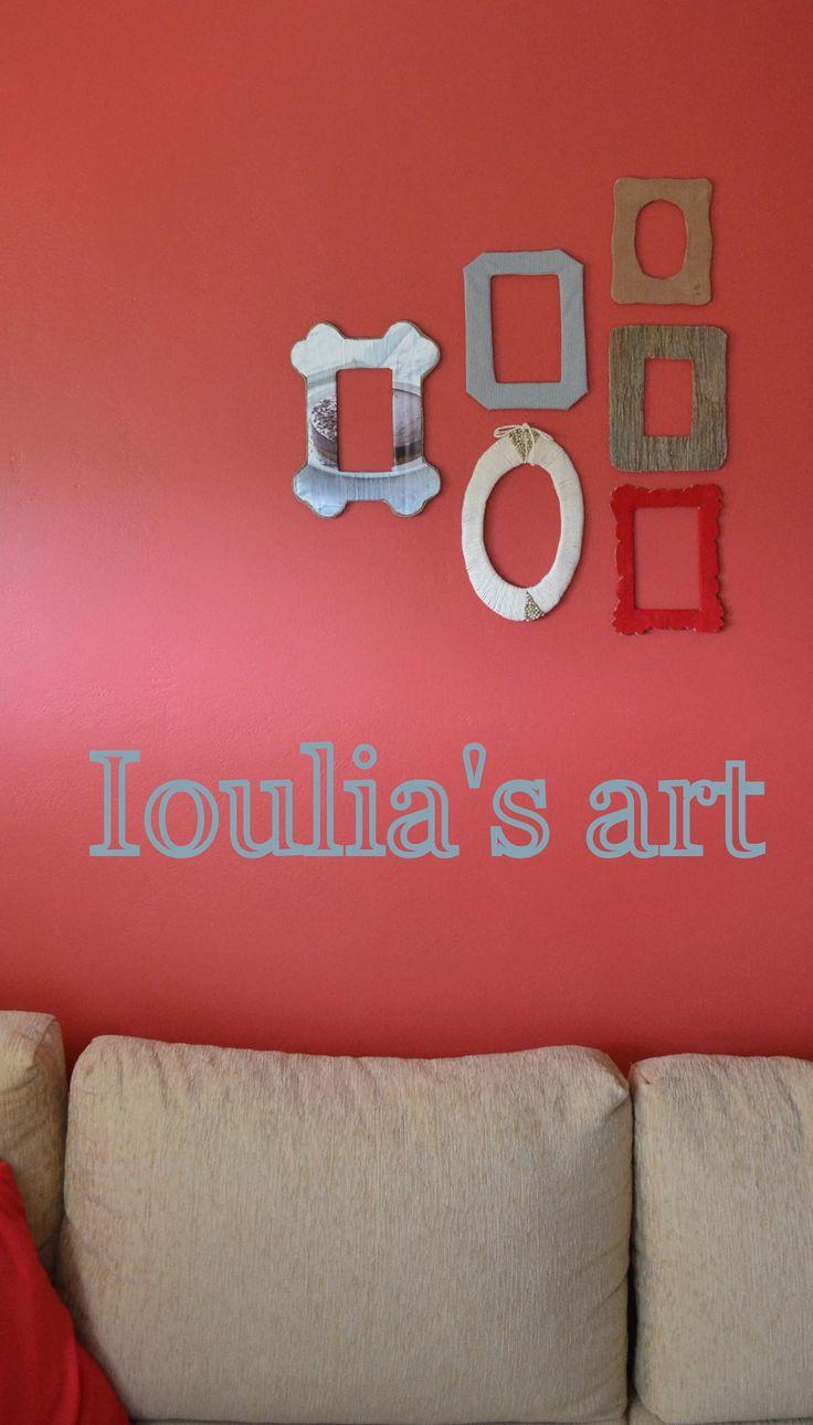 Decoration Frames. DIY.  http://iouliasart.blogspot.gr/