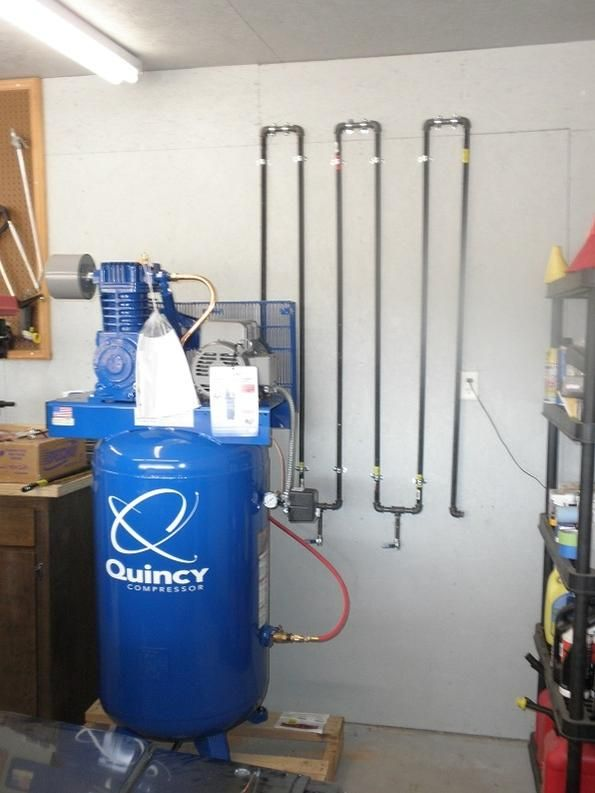 how to plumb air lines in garage