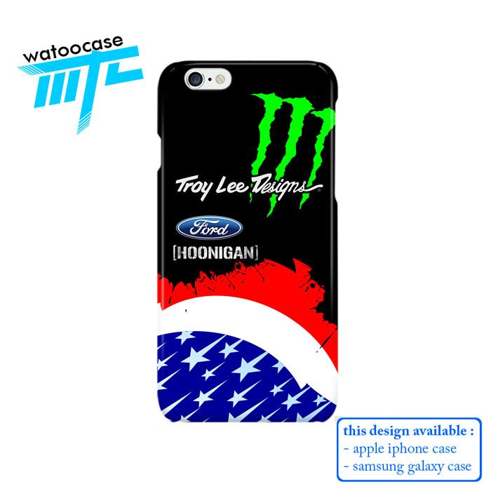 Troy Lee Design Monster Energy Ford Phone Case for Apple Iphone 4/4s, Iphone 5/5s, Iphone 5c, iPhone 6, iPhone 6 Plus, Samsung GALAXY S3, Samsung Galaxy S4, Samsung Galaxy S5