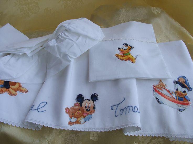 Biancheria da letto - lenzuolino culla carrozzina cotone - un prodotto unico di dorazimorena su DaWanda