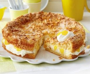 Mandel-Becherkuchen mit Zitronencreme Rezept mit Lemon Curd