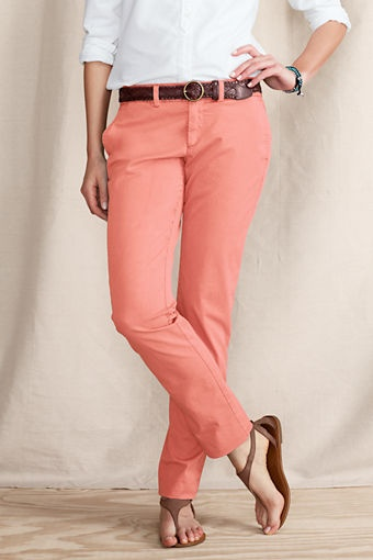 Women's Pigment Dye True Slim Chinos from Lands' End Canvas