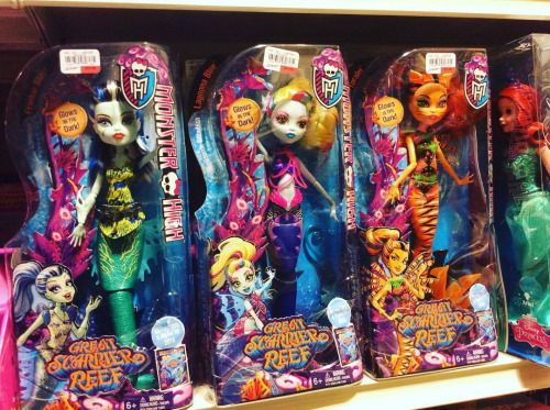 eahdolls:  Heads up everyone in the US!Have a Gordmans store close to you? Creep over there! The three budget Monster High: Great Scarrier Reef™ ghouls (Frankie, Lagoona and Toralei) are being found in stores now for $14.99 each!  Picture: https://instagram.com/p/9mzVl9AJrK/