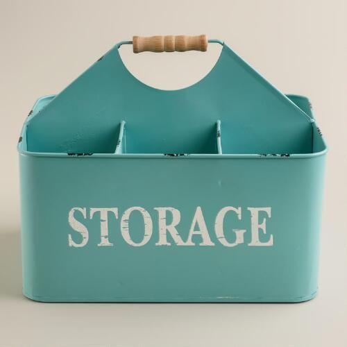 One of my favorite discoveries at WorldMarket.com: Aqua Donna Storage Caddy