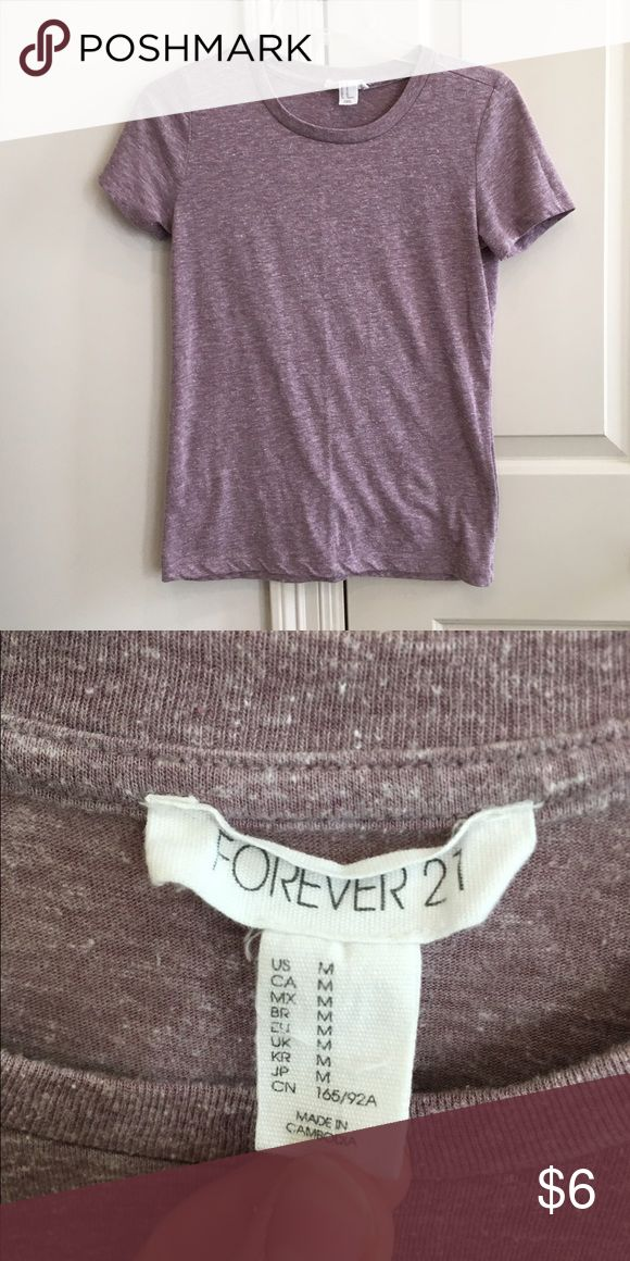 FOREVER 21 fitted and faded purple tee FOREVER 21 fitted and faded purple tee. Super soft, size Medium, fits like a small. Forever 21 Tops Tees - Short Sleeve
