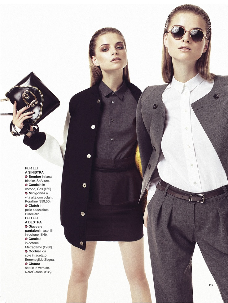 A sexy career woman in @Glamour Italia, October 2012 issue, with #Hair & #MakeUp by Barbara Bertuzzi for Urban Tribe! #fashion #editorial