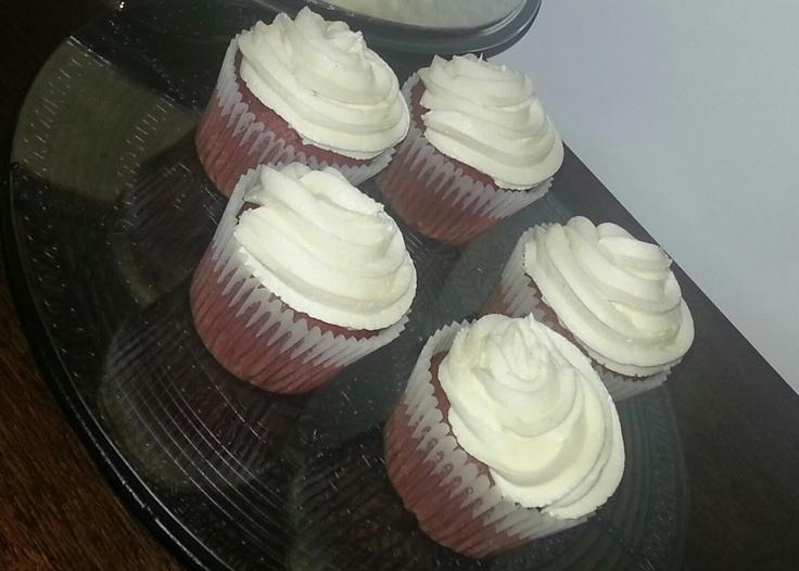 Red Velvet & White Chocolate Bespoke Luxury Cupcakes